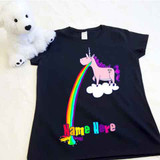 Barfing Unicorn Ladies Fitted Shirt