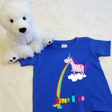 Barfing Unicorn Shirt in Baby and Toddler Sizes