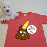 Poopicorn the Unicorn Poop Youth Shirt