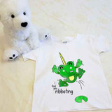 Froggycorn the Frog Unicorn Shirt in Baby and Toddler Sizes