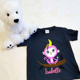 Banana Monkey Unicorn Shirt in Baby and Toddler Sizes