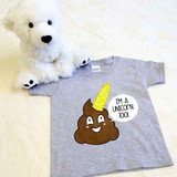 Poopicorn Shirt in Baby and Toddler Sizes