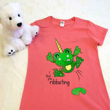Froggycorn the Frog Unicorn Ladies Fitted Shirt