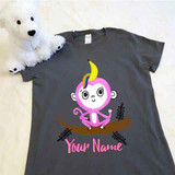Banana Monkey Unicorn Ladies Fitted Shirt