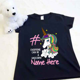 Ice Cream Unicorn Ladies Fitted Shirt