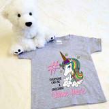 Ice Cream Unicorn Shirt in Baby and Toddler Sizes