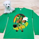 Green Luck of the Dab Kids Long Sleeve Shirt