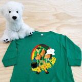 Green Luck of the Dab Toddler Long Sleeve Shirt SAMPLE