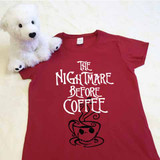 The Nightmare Before Coffee Adult Shirt