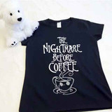 The Nightmare Before Coffee Ladies Fitted Shirt