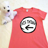 coral pink his thing ladies fitted shirt