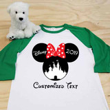 Minnie Castle Adult Raglan 3/4 Sleeve