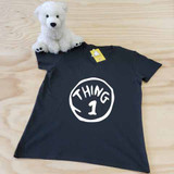 black thing themed ladies fitted v-neck