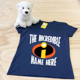 The Incredibles Themed Ladies Fitted V-Neck Shirt