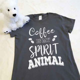 Coffee Is My Spirit Animal Ladies Fitted Shirt