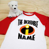 The Incredibles Themed Adult Raglan 3/4 Sleeve