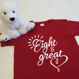 Eight Is Great with Heart Youth Shirt