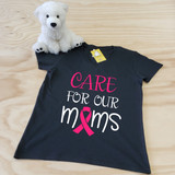 Care For Our Moms Ladies Fitted V-Neck Shirt