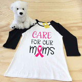 Care For Our Moms Ladies Slim Fitted Raglan 3/4 Sleeve