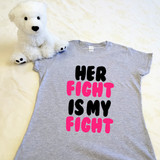 Her Fight Is My Fight Ladies Fitted Shirt