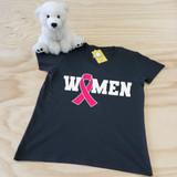 Women Ribbon Ladies Fitted V-Neck Shirt