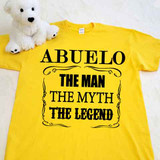 Abuelo The Man The Myth The Legend Adult Shirt