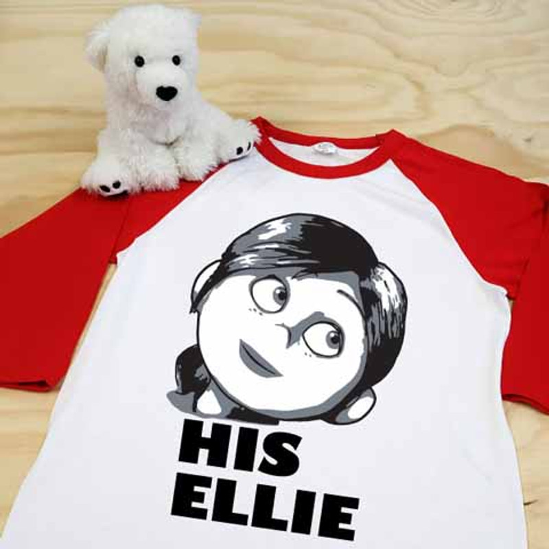 white and red his ellie adult raglan