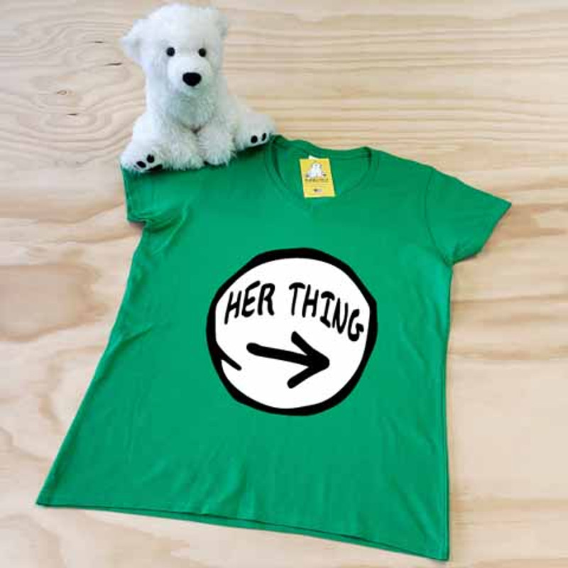 green her thing ladies fitted v-neck
