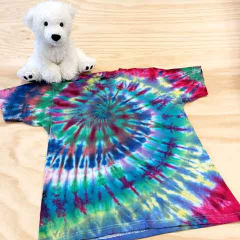 Multi colored tie dye youth shirt