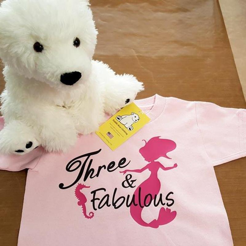 Fabulous Birthday Mermaid Shirt In Baby And Toddler Sizes