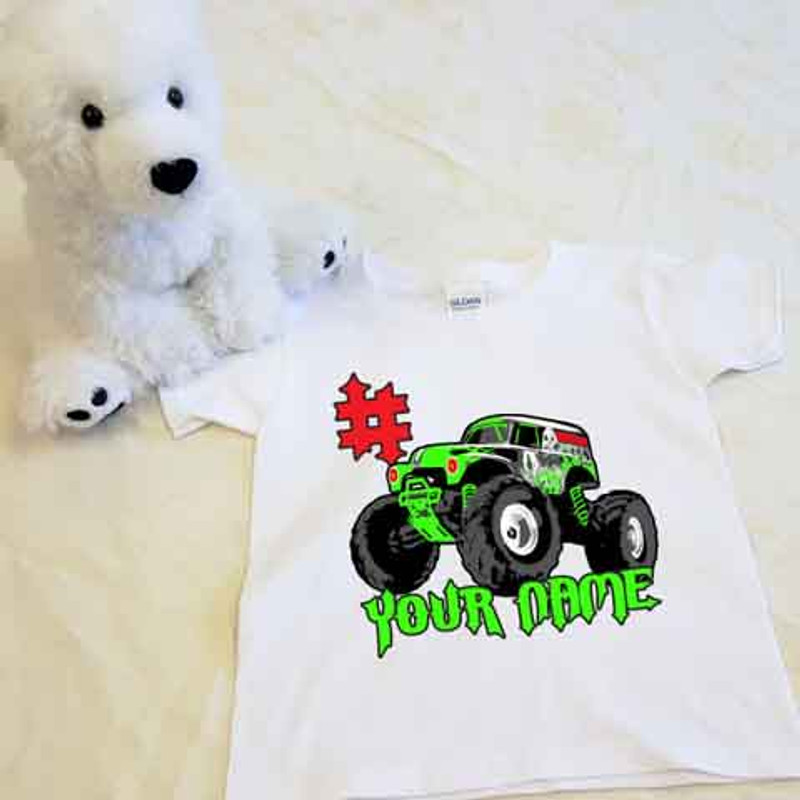 Monster Truck Shirt in Baby and Toddler Sizes