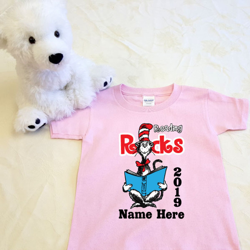 5b1fe315db0 Reading Rocks Cat in the Hat Shirt in Baby and Toddler Sizes ...
