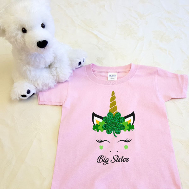 St Patrick's Day Unicorn Crown Toddler Shirt SAMPLE
