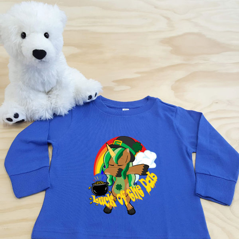 Royal Blue Luck of the Dab Toddler Long Sleeve Shirt
