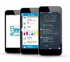 HP 330 Latex Printer Mobile App