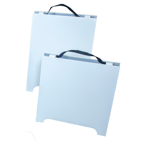 """Wooden A Frame, Reversible White A Frame With Handle (3/8"""" Thick)"""