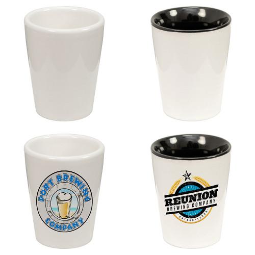 Ceramic Sublimatable 1.5 oz Shot Glass, 120 per case