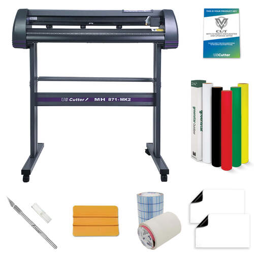 "34"" MH 871 Vinyl Cutter Value Kit w/ VinylMaster Design & Cut Software"