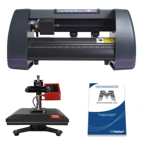 "14"" MH Craft Vinyl Cutter & 9"" x 12"" Heat Press Machine Combo"