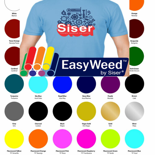 "30 Sheets SISER EasyWeed Heat Transfer Vinyl Bundle, 15""x12"" Assorted"