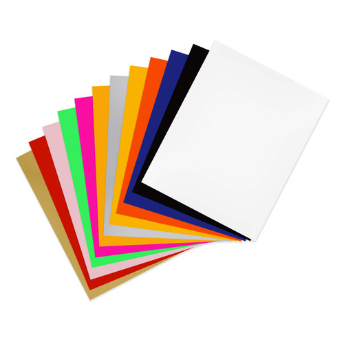 SISER EasyWeed Heat Transfer Vinyl 15in x 12in 12 Color Starter Bundle