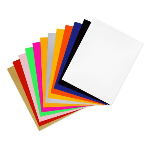 SISER EasyWeed Heat Transfer Vinyl 15in x 12in 12 Color Starter Bundle