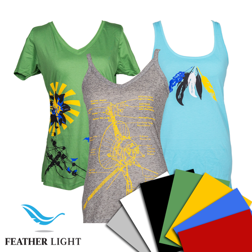 "Feather Light Heat Transfer Vinyl by Siser 7 Color Kit, 15"" x 12"""
