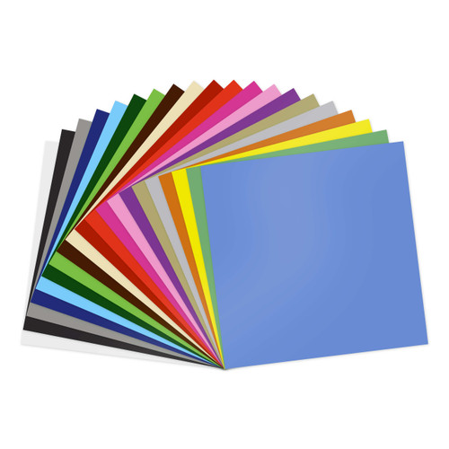 "GreenStar 20 Color 12""x12"" Sheets Indoor Vinyl Bundle - Matte Removable Wall Vinyl"