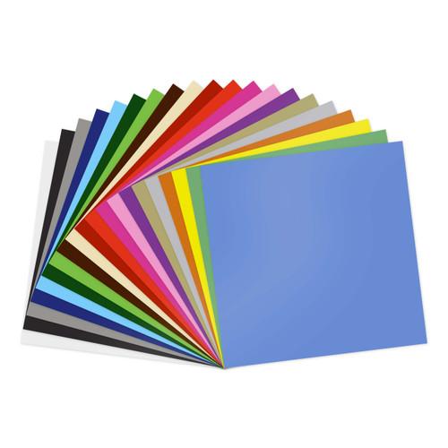 "GreenStar 20 Color 12""x12"" Sheets Indoor Vinyl Bundle - Matte Removable Wall Vinyl"