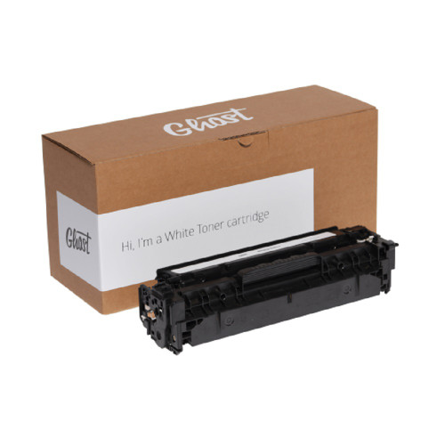Ghost White Toner Cartridge for HP Color LaserJet Pro M252 Printer (Comparable to HP 201A)
