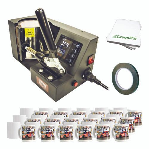 Mug Dye Sublimation Kit including Press, Mugs & Sublimation Supplies