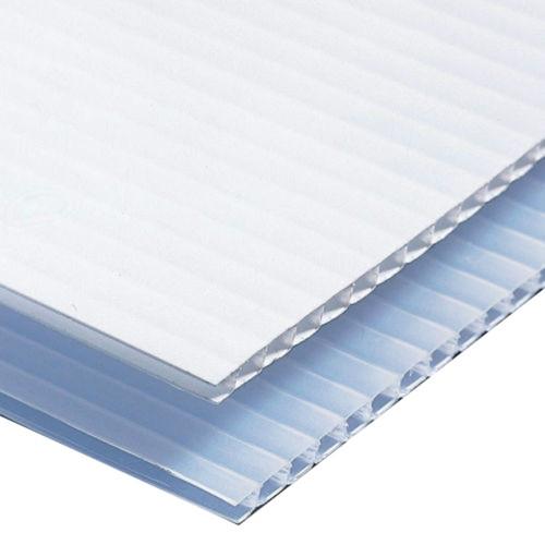 """18"""" x 12"""" Corrugated Plastic Sheets - Short Flute White"""