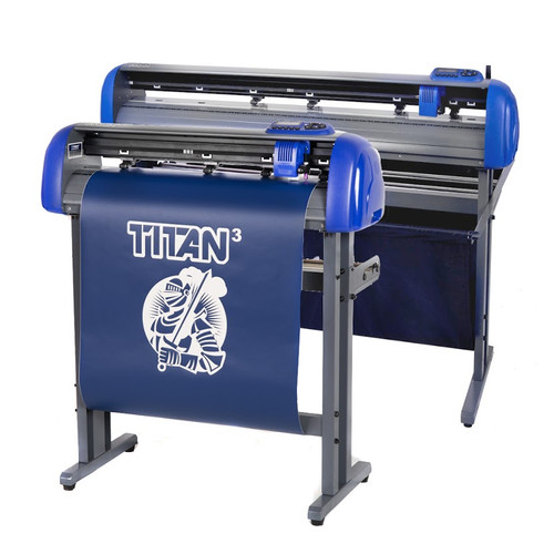 """Refurbished 28"""" TITAN 3 Vinyl Cutter with Stand and Catch Basket"""