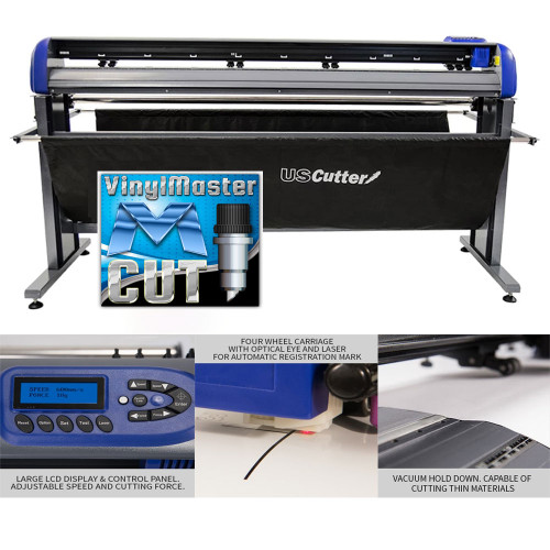 """Refurbished 68"""" TITAN 3 Vinyl Cutter with Stand and Catch Basket"""